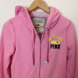 Victoria Secret VS Pink M Cotton Blend Zip Hoodie